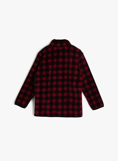 Koton Kids Koton Kareli Kırmızı Sweatshirt Kırmızı